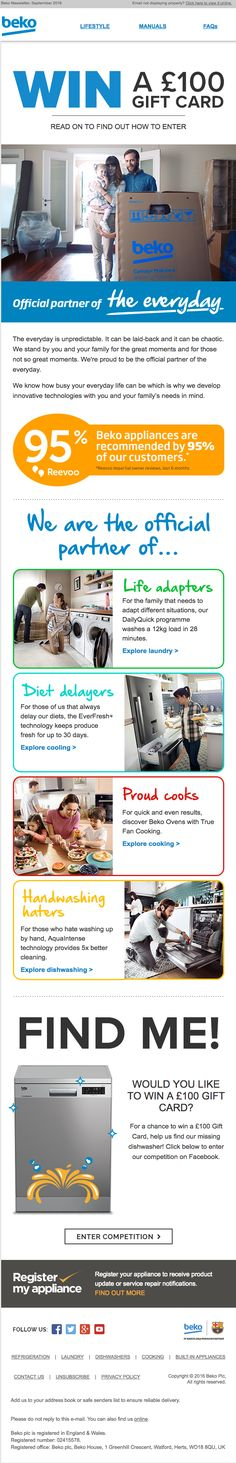 08555c4f9c6d Beko using Reevoo reviews in their email newsletter