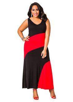 1cadd1c5a5a Best Selling Colorblock Maxi Dress Plus Size Jumpsuit