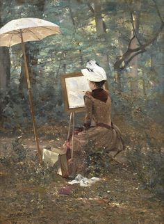 SMITH Alfred - French (1853-1932) - L'aquarelliste