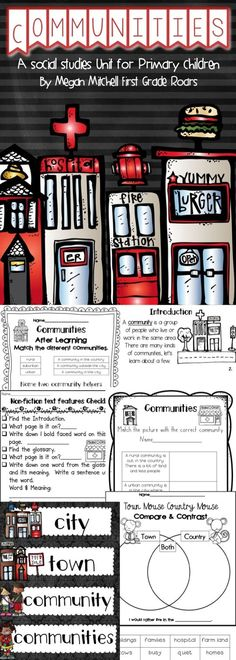 Do you want to teach your children about communities and community buildings. This unit focuses on that as well as urban, suburban, and rural vocabulary.