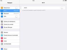 Comment connecter mon iPad en WIFI ?