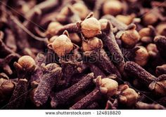 Macro of spice cloves in vintage - stock photo