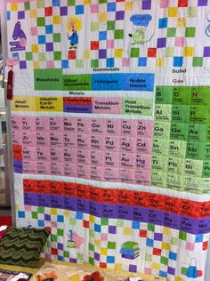 Periodic table of the elements quilt embroidraholic pinterest periodic table quilt by gorskic urtaz Choice Image