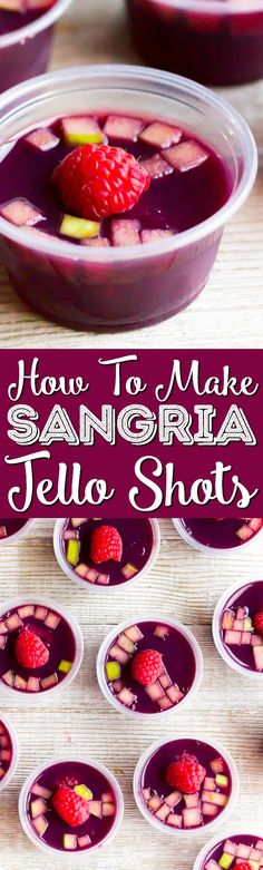 Turn a classic wine punch into a fun party shot with this easy Sangria Jello Shots recipe! These cocktails are great for all your get-togethers and are made ahead of time for easy entertaining! via @sugarandsoulco