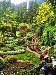Butchart Gardens, Victoria Island, Canada #canadatravel