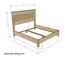 find this pin and more on diy furniture plans ana white inspired fancy farmhouse king size headboard and bed frame - Diy King Size Bed Frame