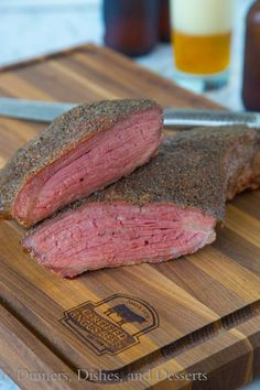 Smoked Tri-Tip - a perfectly smoked cut of meet is a gorgeous thing! This Tri-tip is coated in a quick and easy rub, and then smoked to perfection!