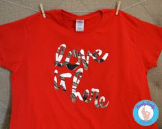 Love It Here  Red T-Shirt by HandyDandyDesign on Etsy