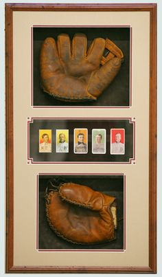 Here is another Great idea for a Special Father's Day Gift! Display baseball gloves, trading cards in a Shadow Box. Man Cave Diy, Man Cave Home Bar, Dodgers, Ultimate Man Cave, Out Of The Closet, Frame Shop, Shadow Box, Custom Framing, Picture Frames