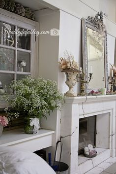 A beautiful home in France that is decorated in a French country style with a shabby chic twist. More ideas and lots of photos to give you inspiration up on the blog at shabbyfufu