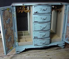 french decoupage jewelry armoire - they monogram the top of it