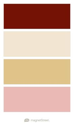 Maroon, Champagne, Gold, and Dusty Pink Wedding Color Palette - custom color palette created at MagnetStreet.com