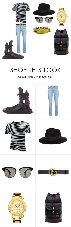 stripes by bandathando on Polyvore featuring Topman, Ann Demeulemeester, JBW, Gucci, Fred Perry, Larose, Versace, men's fashion and menswear