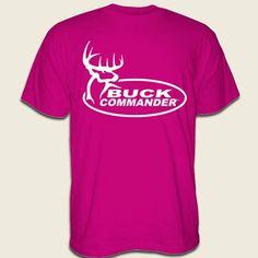Buck Commander Store - BC HOT PINK W/WHITE LOGO SHIRT..OOO I want it! :)