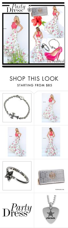 """""""Sherri Hill 50465 Floral Printed Two Piece Dress"""" by evermissjody ❤ liked on Polyvore featuring Chrome Hearts and Christian Louboutin"""