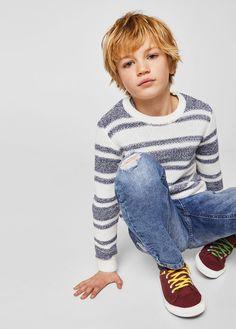 Light wash skinny jeans - Boy | MANGO Kids Canada