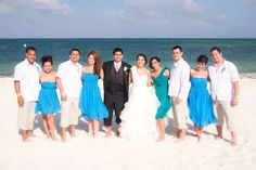 Wedding Party in Cancun, Mexico by Paul Krol Cancun Wedding, Destination Wedding, Cancun Mexico, Bridesmaid Dresses, Wedding Dresses, Party, Photography, Fashion, Bridesmade Dresses