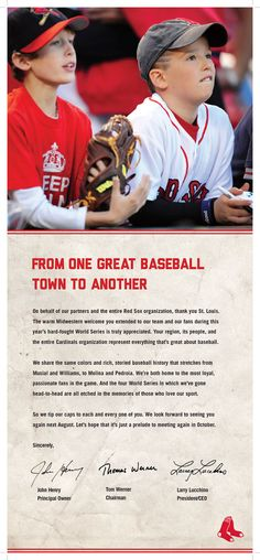 I'm not going to get gushy or anything, but you have to admit that this is pretty classy from the Sox organization!