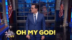 New trendy GIF/ Giphy. omg stephen colbert election 2016 oh my god presidential debate election debate colbert live aftershow. Let like/ repin/ follow @cutephonecases