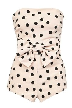 Swimwear, one piece, dots, white