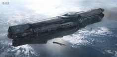 The UNSC Infinity, Halo 4 concept.