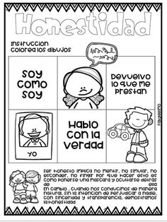 tareitas: HONESTIDAD Bible Crafts For Kids, Guard Your Heart, Life Hacks For School, School Items, Diy Gifts For Boyfriend, Class Activities, Classroom Inspiration, Show And Tell, Special Education