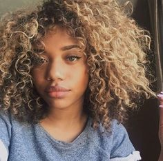 Image result for blonde curly hair dark roots