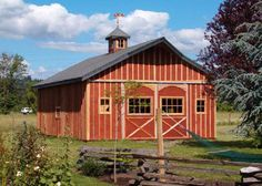 picures of simple barns | ... ell shaped wings, side sheds and end sheds to the central horse barn