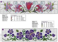 cross stitch flowers and butterflies Cross Stitch Bookmarks, Cross Stitch Borders, Cross Stitch Alphabet, Cross Stitch Flowers, Cross Stitch Designs, Cross Stitching, Cross Stitch Embroidery, Embroidery Patterns, Hand Embroidery