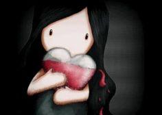 Muñeca con un corazón líquido