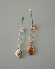 Rose gold plated locket pin - Nonesuch things
