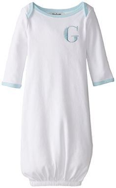 Mud Pie Baby-Boys Newborn Blue G Initial Sleep Gown   Mud Pie Baby-Boys Newborn Blue G Initial Sleep Gown Cotton sleep gown with embroidered letter arrives in printed 'take-me-home' gift box.  http://www.allsleepwear.com/mud-pie-baby-boys-newborn-blue-g-initial-sleep-gown/