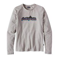 Patagonia Men\'s Nightfall Fitz Roy Lightweight Crew Sweatshirt - Feather Grey FEA