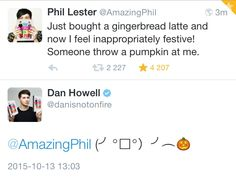 is it bad that i imagined Dan actually screaming and throwing a pumpkin? Phil Lester, Markiplier, Phan Is Real, Daniel James Howell, Dan And Phill, Phil 3, Danisnotonfire And Amazingphil, Hilarious, Funny