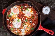 Shakshuka eggs   Annabel Langbein Egg Recipes, Brunch Recipes, Breakfast Recipes, Free Recipes, Creamy Avocado Sauce, Spicy Tomato Sauce, Best Enchilada Sauce, Best Enchiladas, Roasted Vegetables