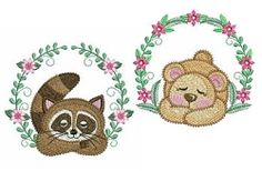 Sleepy Animals Set, 10 Designs - 4x4 | What's New | Machine Embroidery Designs | SWAKembroidery.com