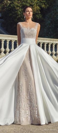 Rica Sposa Wedding Dress Collection 2018 - Hola Barcelona #weddingdress #bridal #bride #weddings #bridalgown #weddinggown #weddingdresses