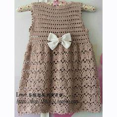 Baby girl crochet dress english New Ideas Crochet Dress Girl, Baby Girl Crochet, Crochet Baby Clothes, Crochet Dresses, Crochet Toddler, Crochet For Kids, Knitting For Kids, Baby Knitting, Crochet Crafts