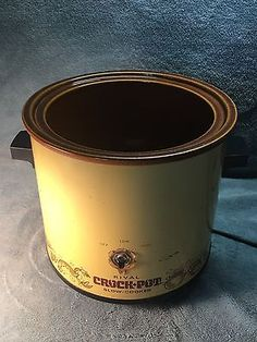 VTG Rival Mustard Yellow Crockpot Slow Cooker Base Only Replacement Rival Crock Pot, Small Kitchen Appliances, Mustard Yellow, Crockpot, Slow Cooker, Base, Dining, Food, Crock Pot