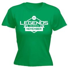 123t USA Women's Legends Are Born In November Funny T-Shirt