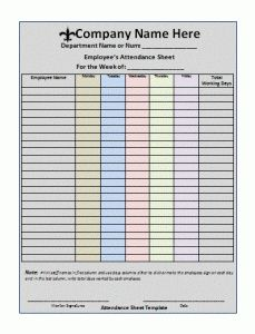 employee attendance tracker excel template - Google Search ...