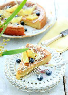 Hvit sjokoladekake med sitron