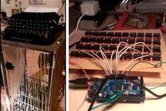 typewriter-driven-by-automotive-door-lock-motors