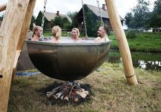 Boiler Pot Hot Tub There is Jacuzzi and jacuzzi . You can also visit our sauna, jacuzzi and steam Outdoor Baths, Outdoor Tub, Outdoor Showers, Outdoor Fire, Outdoor Living, Outdoor Decor, Garden Cottage, Garden Hoe, Diy Garden