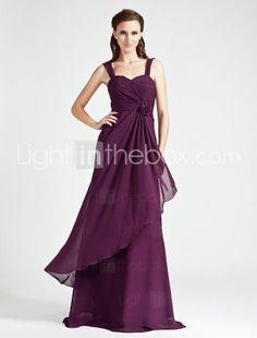 A-line Sweetheart Floor-length Chiffon Bridesmaid Dress - US $128.69