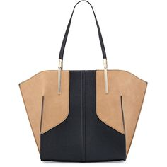 6a944d338e Neiman Marcus Geometric Bicolor Tote Bag ( 70) ❤ liked on Polyvore  featuring bags