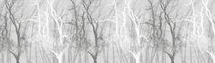Wander Trees Charcoal - Tapetit / tapetti - Photowall