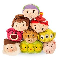 Toy Story ''Tsum Tsum'' Mini Plush Collection - Woody, Buzz, Jessie, Alien, Bullseye, & Hamm only