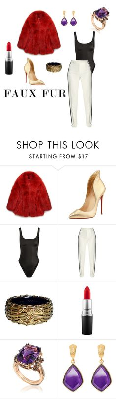 """""""Cruella Diva"""" by styledbychance on Polyvore featuring GUILTY BROTHERHOOD, Christian Louboutin, Norma Kamali, Elie Saab, Chanel, MAC Cosmetics, LE VIAN and Juvi"""