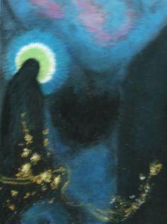 Vrij naar Odilon Redon, kopie gemaakt door Gerrie Hoftijzer
